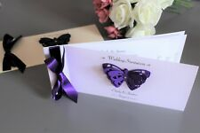 Personalised Butterfly Chequebook Wedding Invitations. Choose colour