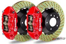BREMBO Rear GT BBK Big Brake 4pot Red 380x28 Drill Disc Cadillac CTS-V 09-14