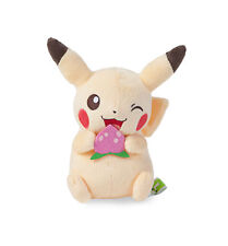 Pokemon Life Picnic Pikachu with Strawberry 14 cm Plush Toy