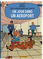 Pastiche Tintin - Un jour dans un aéroport.  Hors Commerce cartonné 40 pages
