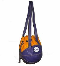 NEW R25 Louisiana State Tigers NCAA Leather BASKETBALL PURSE Purple Shoulder Bag