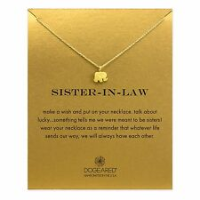 """Dogeared Sister In Law Gold Dipped Elephant Reminder Boxed 16"""" Necklace"""
