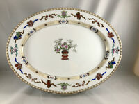 "Noritake Lazarre 14"" Oval Serving Platter Hand Painted Made in Japan * (D4)"