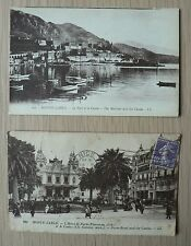 MONTE CARLO- ancienne carte postale-PORT-CASINO-HOTEL DE PARIS