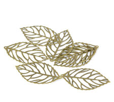 15 x Bronze Leaf Stamping Pendants for jewellery necklace bracelet keychain 44mm
