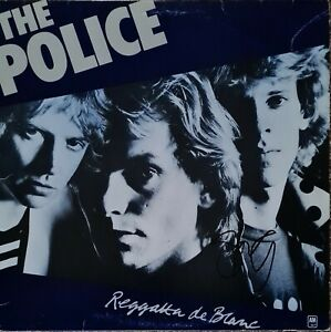 The Police 'Regatta De Blanc' new LP, hand signed in person by Stewart.
