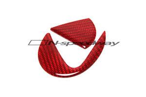 For 14+ Lexus IS 350 250 4-DR F Sport Red Carbon Fiber Trunk Emblem Decal Filler