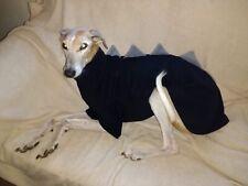 "dog dinosaur jumper fleece coat greyhound lurcher 28-30"" black & grey xlarge"