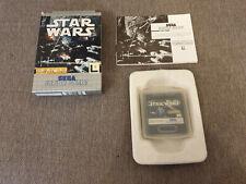 Sega Game Gear Game Star Wars Boxed with Manual