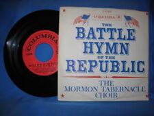 "MORMON TABERNACLE CHOIR:""LORD'S PRAYER+BATTLE HYMN OF THE REPUBLIC"" 45RPM 1961"