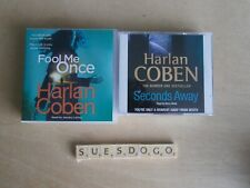 HARLAN COBEN FOOL ME ONCE & SECONDS AWAY 2 CRIME AUDIO BOOKS 12 CDS PLAYED ONCE