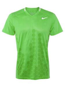 Nike Men's Pro Player Dri-Fit Showdown Movement Swoosh Tennis Crew Shirt Green