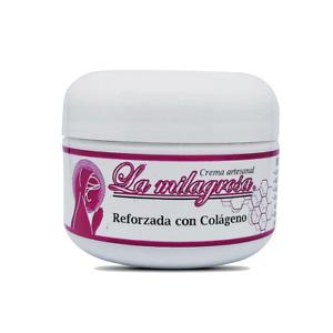 Crema La Milagrosa Reforzada con Colageno Formula Renovada El Aliado de tu Piel
