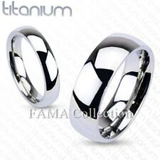 FAMA Solid Titanium Mirror Polished Traditional Wedding Band Ring Select Size