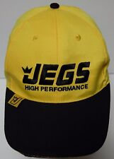 JEGS HIGH PERFORMANCE Mail Order Company Automotive Equipment YELLOW HAT CAP
