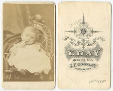 CDV STUDIO PORTRAIT OF A BABY/NEWBORN FROM MEMPHIS, TENN