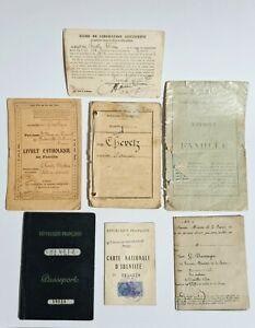Lot de papiers CHEVETZ né en 1888 Russie papiers Militaire Passeports et Divers