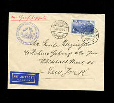 Zeppelin Sieger 27 1929 1st North America flight Switzerland VERY RARE FRANKING