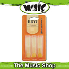 Rico 2 1/2  Strength Bb Clarinet Reeds - 3 Pack - New The Music Shop - Reed