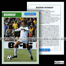 BONHOF RAINER (FC VALENCIA KÖLN HERTHA BERLIN) 70's Fiche Football Fussball 1999