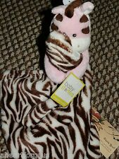 SECURITY BLANKET ZEBRA SNUGGLE BUDDY PINK BODY BABY STARTERS NEW RATTLE GIRL NWT
