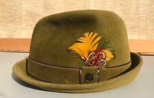 "Vintage Stetson Playboy Olive Green Felt hat size 6 7/8"""