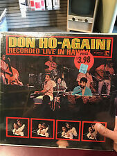 Don Ho-Again! Recorded 'Live' in Hawaii NEW SEALED Vinyl LP