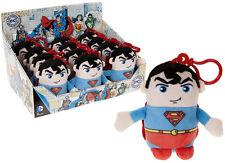 11CM Superman Juguete de Felpa Con Clip abrazo Oficial Regalo Llavero Mochila Nuevo