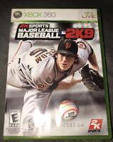 Major League Baseball 2K9 Xbox 360 Kid Game Complete MLB 2009 Giants Collectible