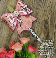 Personalised stunning pram charm in Baby Pink girls boys sequin Bow