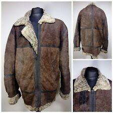 Vintage Mens B3 Leather Sheepskin Shearling Flying Pilot Aviator Bomber Jacket