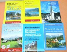 4 PANORAMAKARTEN-WANDERKARTEN * 2 Ortsbeschreibungen Tegernsee,Wendelstein