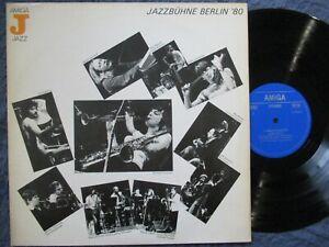 JAZZBÜHNE BERLIN '80 Jon Hiseman, Jasper van't Hof .../ LP DDR 1981 AMIGA 855800