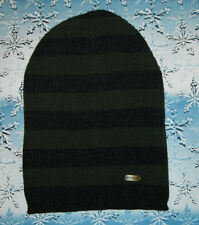 STETSON SLOUCH BEANIE OVERSIZED LONG BEANIE KNITTED CAP GREY - OLIVE