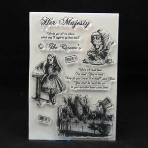 1pc Vintage Transparent Silicone Stamp Clear Seal Stamps Card Scrapbook Making S