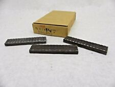 """Nos New (3) 1"""" W 3/8"""" T 4-1/4"""" L Tong Dies Drilling Nh"""