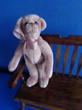 "3.5"" Miniature Ooak Teddy Bear- Debora Evans- Mauve Handmade Artist Original"