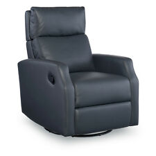 Sidney swivel glider recliner in slate gray color  / ADJUSTABLE HEADREST