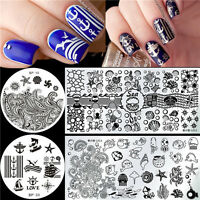 4Pcs/set Nail Art Stamp Image Plates Template Stencil Sea Shell Starfish Design