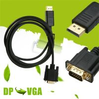 1.8M 6 Feet Display Port DP Male To VGA Male Converter Adapter Cable For Laptop