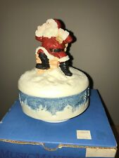 "United Design Corp 1989 Music Makers ""Jolly Old Elf"" Christmas Music Box"