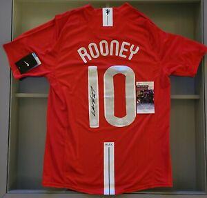 Wayne Rooney Signed Manchester United Champions League Nike Jersey (JSA COA)