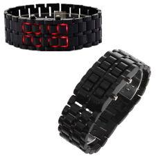 Black LED Digital Samurai Lava Wrist Watch Plastic Sports Mens Womens Unisex LO
