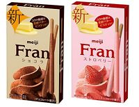 Meiji, Fran, Stick Biscuit Coated with Milk/Strawberry Chocolate, Japan