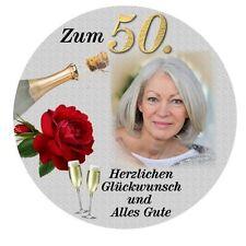 Tortenaufleger Foto Geburtstag Zuckerfolie rund 20 cm oder eckig 20 x 28 cm