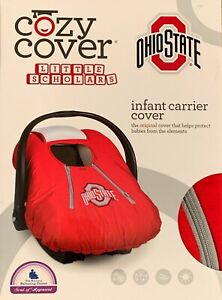 Ohio State OSU Infant Car Seat Cozy Carrier Cover ~ Lined ~ NEW