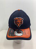 New Era 39THIRTY Navy Blue/Orange Bill L/XL Fitted Chicago Bears Cap, NEW!