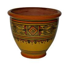 Moroccan Mediterranean Flower Pot Ceramic Terracotta Planter Mexican Yellow