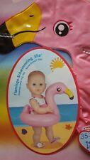 """NEU niedlicher Flamingo Schwimmring  """"Ella"""" von HELESS, Puppengröße 35 bis 45 cm"""