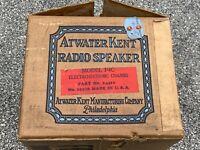 NOS NIB Atwater-Kent F4C Antique Radio Speaker IN BOX